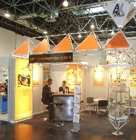 Messestand glasstec 2006